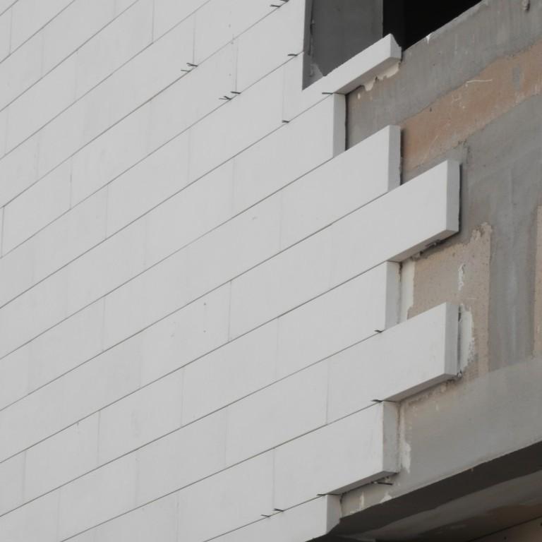 Fachaleta decorativa de Concreto, Acabado Fabricacion de